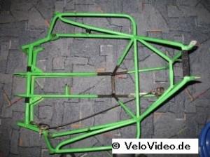 Rahmen, gestrippt und repariert