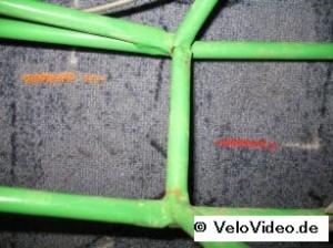 Rahmen, vor Reparatur, Nahaufnahme